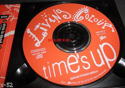 LIVING COLOUR Promo CD TIME S UP Doug E Fresh Queen Latifah James Earl Jones  - $12.99