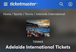 WTB 2x tickets to Adelaide international night session 16/01/2020