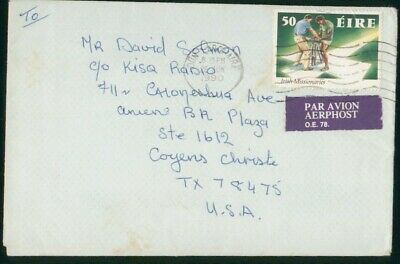 Mayfairstamps Ireland 1990 to Kisq Radio Men Cross Irish Missionaries Cover wwo_
