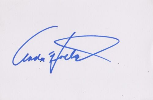 Andre Holland Signed 6x4 Index Card AFTAL *Moonlight/Castle Rock*