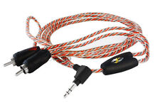 Stinger Premium Right Angle 3.5mm to RCA Male Stereo Audio Cable. SPi336. 6feet