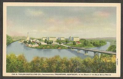 Frankfort KY Kentucky Postcard~K. Taylor Distillery Co. Bourbon Whiskey
