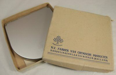 Vintage Vondelingenplaat Dye Works Dial Rule N.V. Fabriek Van Chemische