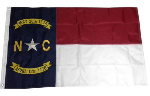 3x5 North Carolina Flag Embroidered Nylon Sewn NC State Deluxe - NC