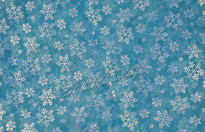 Frozen Princess Elsa cosplay Silver Glitter Snowflake Organza CAPE Fabric - Frozen Cape
