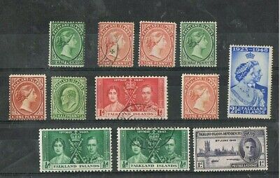 FALKLAND ISLANDS - Lot of old stamps