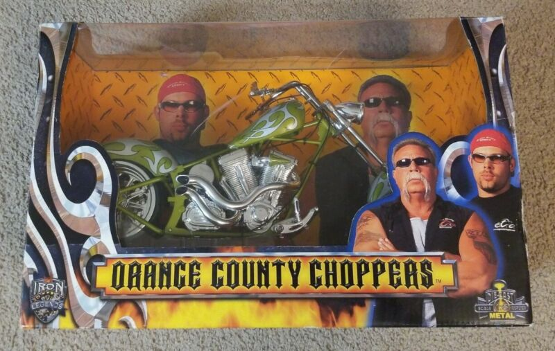 Iron Legends Orange County Choppers 1:6 Scale Die-cast Replica Silver- Green NEW