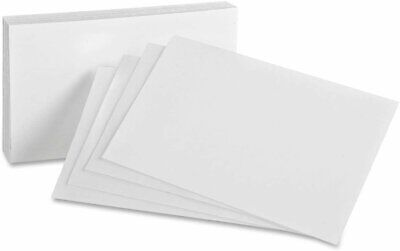 Heavyweight Thick Blank 14pt. White Index Cards - 50 Per Pack