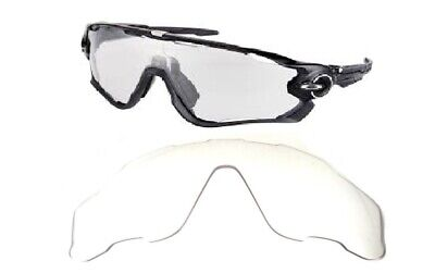 Galaxy Replacement Lenses For Oakley Jawbreaker Sunglasses Crystal Clear for sale  Shipping to India