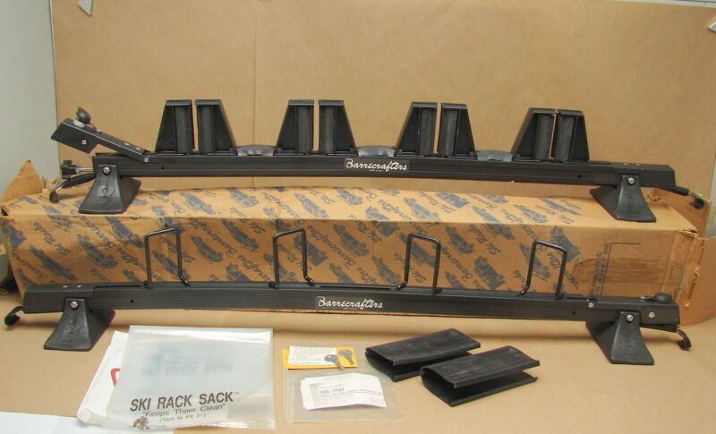 Vintage New NOS SR-910 Barrecrafters Ski Rack Roof Rack w/ Keys (Original Box)