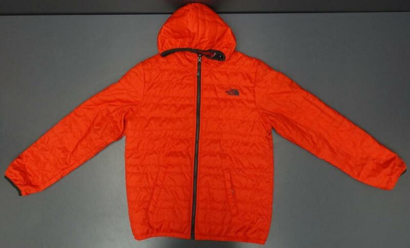 North Face Reversible Windstopper Bubble Jacket Red Multi Color stripes Boys XL