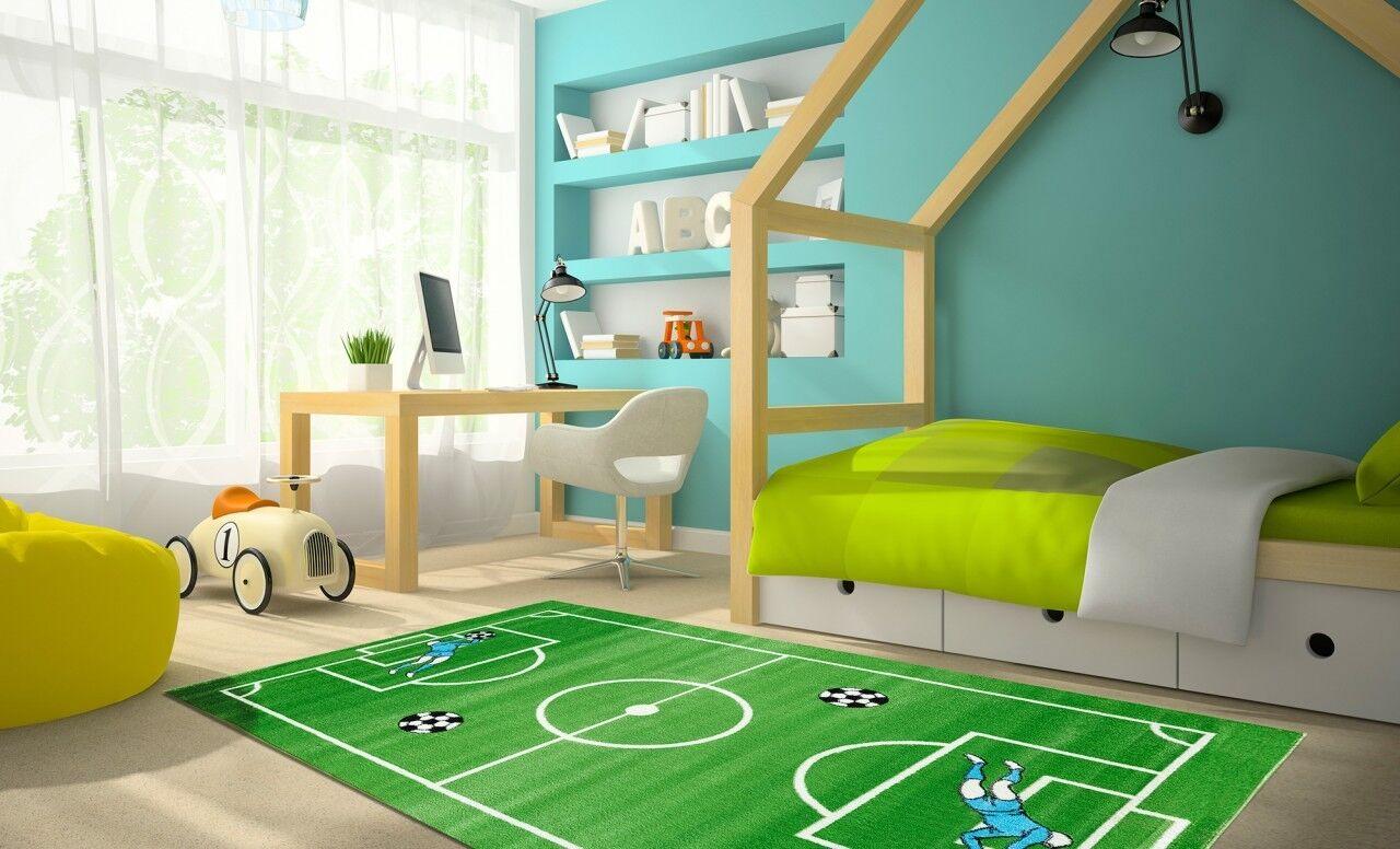 Kinder und Spielteppich Softstar Kids Fußballplatz Grün