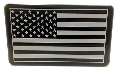 AMERICAN FLAG, Billet Aluminum Hitch Cover Plug, 3x5  Made In USA