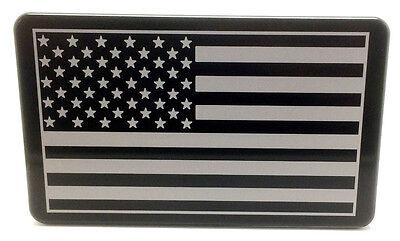 AMERICAN FLAG, Billet Aluminum Hitch Cover Plug, 3x5  Made I