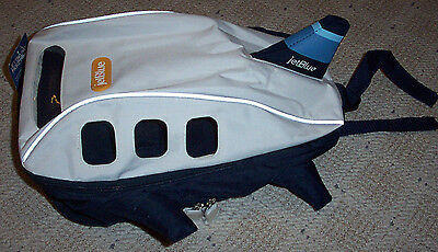 Nwt 2008 Jetblue Airlines Kids Airplane Shaped Backpack   Rare Collectible