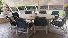 Huge Fibreglass Outdoor setting with eight chairs Mango Hill Pine Rivers Area Preview