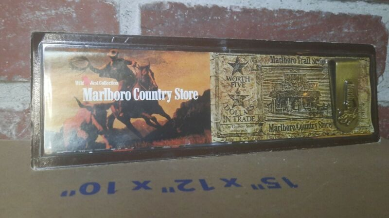 Vintage   Unopened   Marlboro Country Store Money Clip - Wild West Collection