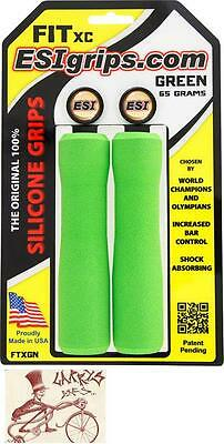 ESI FIT XC SILICONE 32MM GREEN MOUNTAIN MTB BICYCLE GRIPS