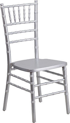 10 Pack Silver Wood Chiavari Chair With Soft Seat Cushion Wedding Chair