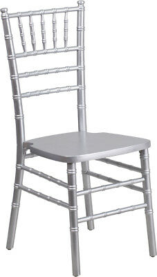 10 Pack Silver Wood Chiavari Chair - Commercial Quality Stack Chiavari Chair