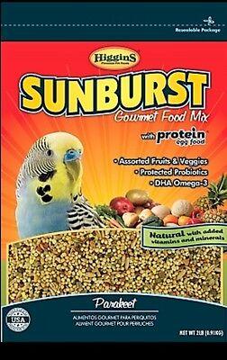 Higgins Sunburst parakeet gourmet Food bird mix ,fruits and veggie 2x2lb Bulk