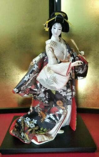 "Vintage Japanese Geisha doll in Kimono 18""  46cm"