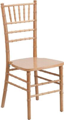 10 Pack Natural Wood Chiavari Chair With Soft Seat Cushion Wedding Chair
