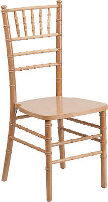 10 Pack Natural Wood Chiavari Chair - Commercial Quality Stack Chiavari Chair