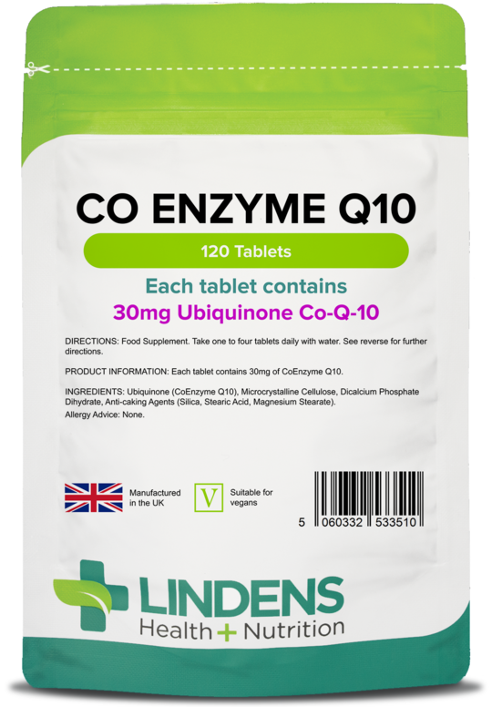 Co Enzyme Q10 30mg 120 Tablets Coq10 Coenzyme Antioxidant Heart Lindens