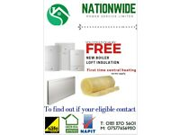 FREE NEW BOILER, LOFT INSULATION AND FIRST TIME CENTRAL HEATING GRANT
