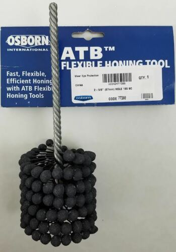 "ATB Flexible Hone Honing Tool 2 5/8"" (67mm)  x 180 grit S/C Osborn"