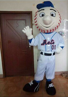 Baseball Mascot Costume Suit Cosplay Party Game Dress Outfit Halloween Adult