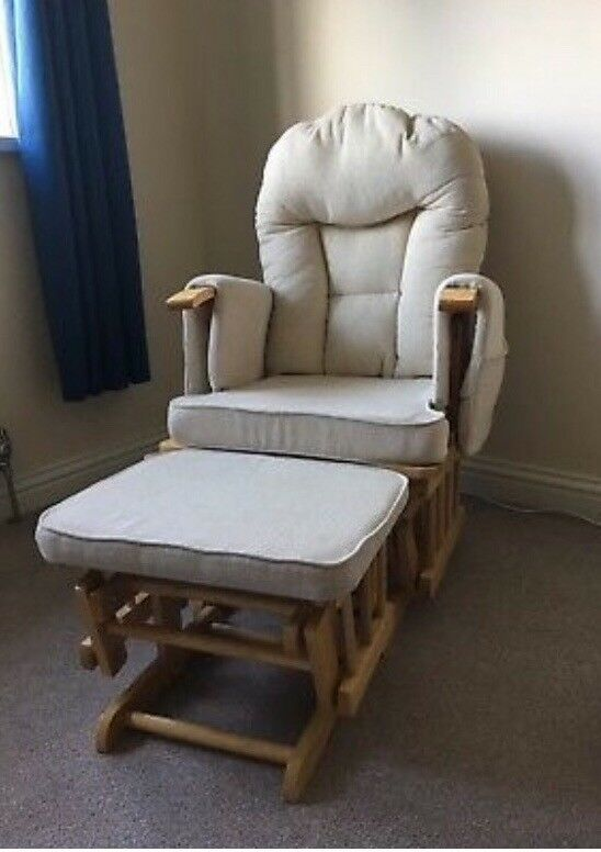 gliding nursing chair and foot stool in cookridge west yorkshire