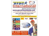 NATIONWIDE COLLECTION Fr£1.50 KG-SEND CARGO/PARCEL/SHIPPING/DOCs 2 INDIA/PAKISTAN/EUROPE/USA/DUBAI