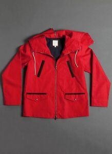 Pre-owned-Billy-Reid-Red-Navy-hoodie-Anorak-595-XL