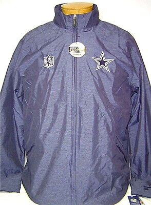 4c75f1428 NEW NFL On Field N Dallas Cowboys Navy Blue Block Out Second Season Jacket M