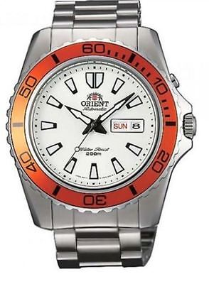 Orient Mako FEM75007W9 White Dial Stainless Steel Men's Watch