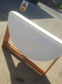 White topped drop leaf table