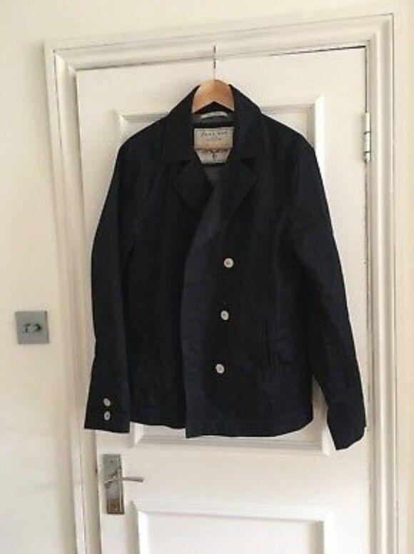 92aff52be7dd Zara Mens Black Crossover Coat Size XL