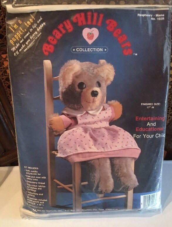 Beary Hill Bears Collection Raspbeary Mama Bear/Puppet Kit 1984