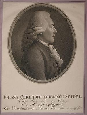 c1800 Seidel Johann Christoph Friedrich Kupferstich-Porträt Diakon Nürnberg