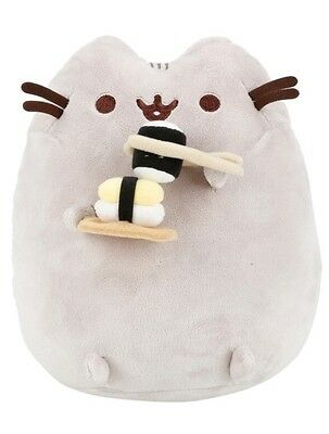 """Pusheen Sushi 9"""" Plush Gund Facebook Cat Gift New With Tags!"""