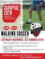 Walking Soccer for 50+ aged Adults!