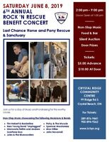 6th Annual Rock N Rescue Benefit Concert: Saturday June 8 2019