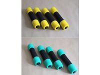 Soft grip dumbells (4 pairs)