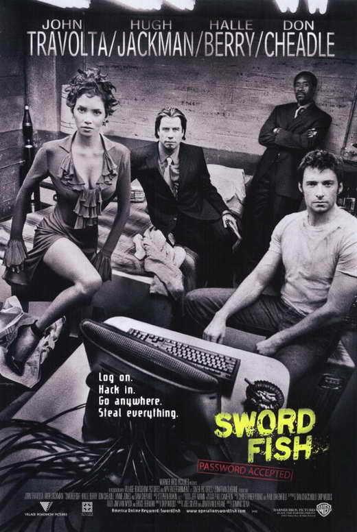 SWORDFISH Movie POSTER 11x17 John Travolta Hugh Jackman Halle Berry Don Cheadle