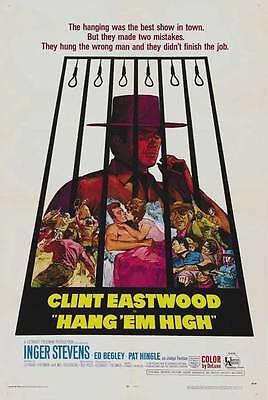 Hang Em High Movie Poster 27X40 B Clint Eastwood Inger Stevens Ed Begley Sr  Pat