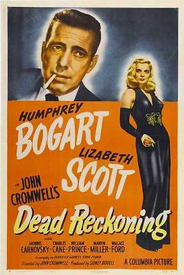DEAD RECKONING Movie POSTER 27x40 C Humphrey Bogart Lizabeth Scott Morris