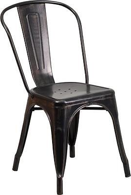 Black Antique Metal Chair Restaurant Indoor Or Outdoor Chair