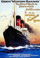 Ireland Fishguard Gwr Railway Travel Vacation Holiday A3 Art Poster Print -  - ebay.co.uk
